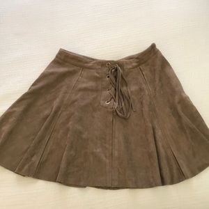 Suede Mini skirt!